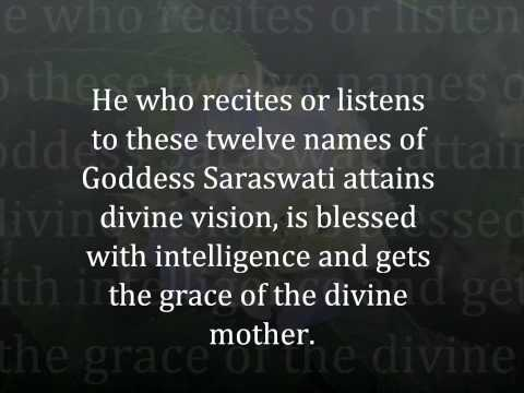 Saraswati Dwaadasha Stotram