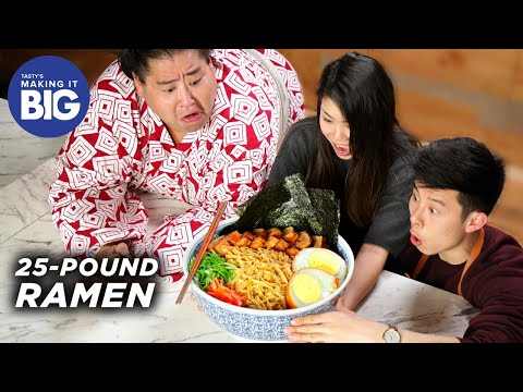 We Made A Giant 25-Pound Ramen Bowl For A Sumo Wrestler • Tasty
