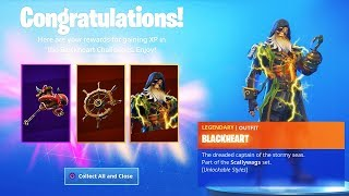 "the MAX ""BLACKHEART"" Skin + ""MUTINY"" Back Bling Unlocks! Fortnite Season 8 Battle Pass Upgrade"