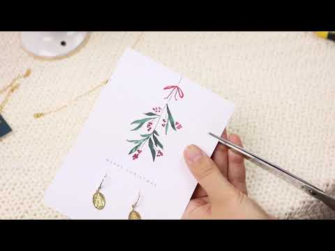 Handmade jewellery: DIY jewellery cards for Christmas ♡ DIY