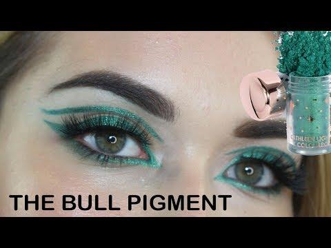 THE BULL PIGMENT | METALLIC GREEN LINER | KATHLEEN LIGHTS X COLOURPOP PIGMENTS thumbnail