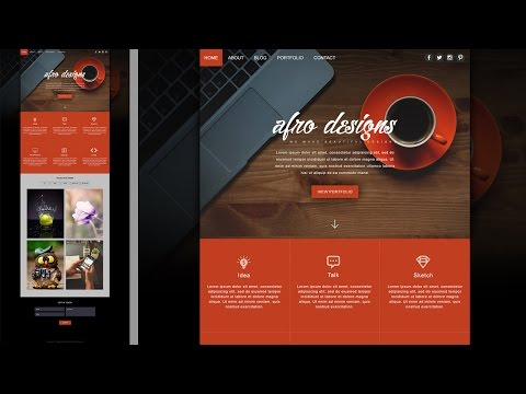 Afro Portfolio Website Design In Photoshop - Photoshop CC Tutorial