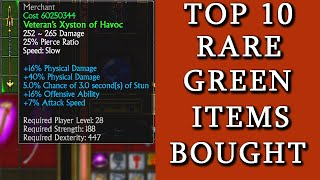 Titan Quest AE  TOP 10 RARE ITEMS Bought In Shops!