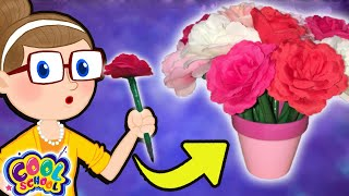 Mothers Day DIY Flower Bouquets!  Crafty Carol Crafts | DIY Crafts For Kids | Cool School