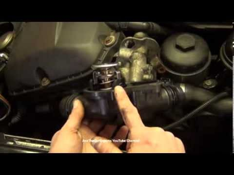 BMW Thermostat Replacement 6 Cylinder - YouTube
