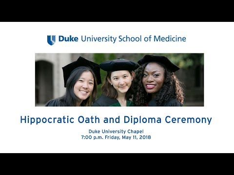 2018 Hippocratic Oath and Diploma Ceremony