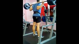 Squats with 100 kg 40 reps