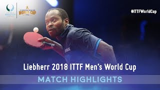 Simon Gauzy vs Aruna Quadri I 2018 ITTF Men's World Cup Highlights (Group)