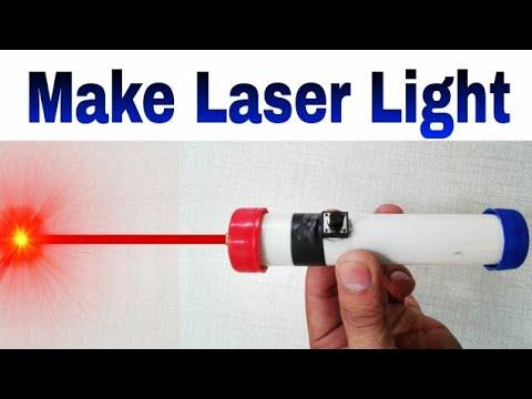 Home Made Laser Light  How to Make Laser Light Same Laser Use security AlarmLearn everyone