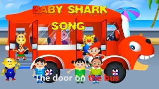Wheels on the Bus | KidoGarden Nursery Rhymes For Kids | Cartoon Animation Songs for Children