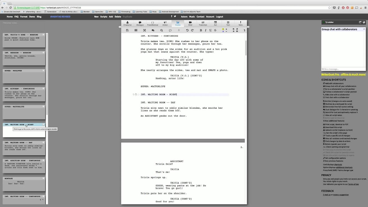 Screenplay App Review: Writer Duet