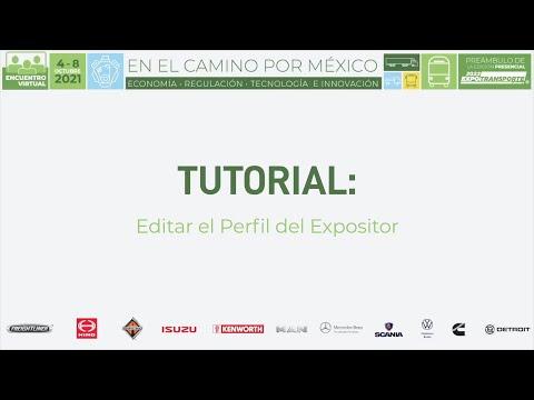 Tutorial Editar Perfil del Expositor (ESP)