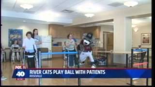 KTXL FOX40: River Cats Visit Sutter Rehab Patients