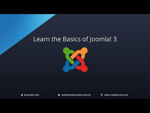 Learn The Basics Of Joomla 3