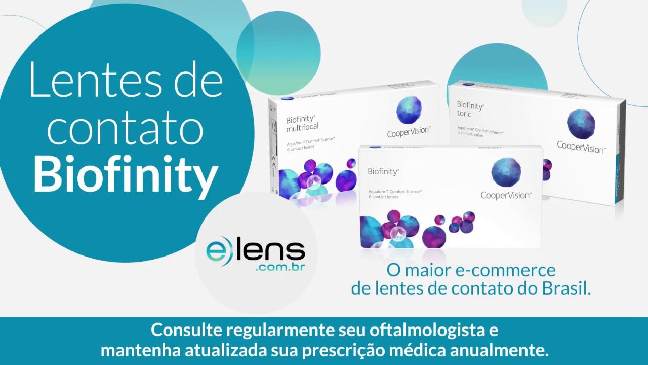 fe207a5af6 BIOFINITY - LENTES DE CONTATO - E-LENS - YouTube