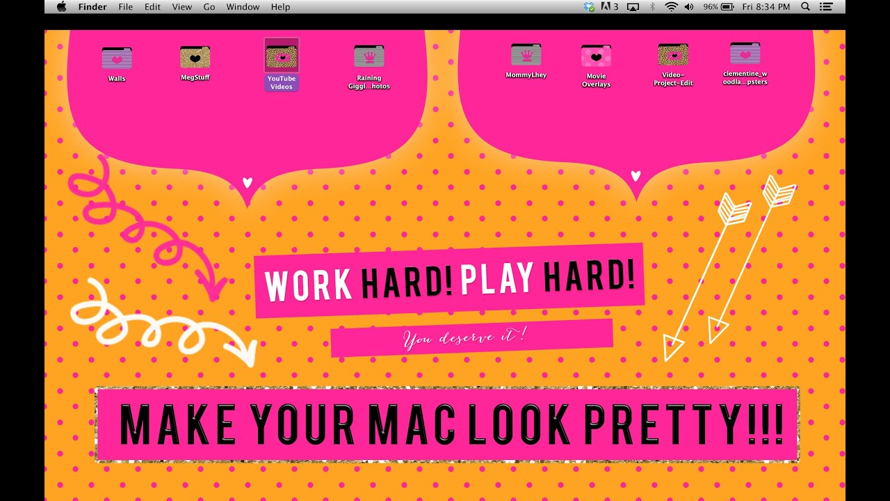 how to make your apple macbook girly and look pretty - youtube