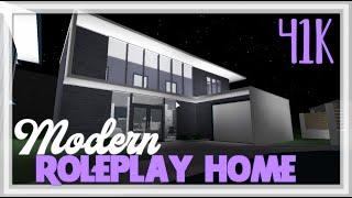 ROBLOX | Bloxburg: 41k Modern Roleplay Home | Neighborhood Series | Speedbuild