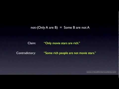 Categorical Logic: Only A are B
