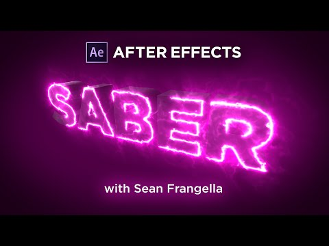 Saber + Element 3D V2 Tutorial - Use SABER to write on Element 3D Text Layers - Sean Frangella