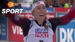 Biathlon Frauen: Eckhoff gewinnt auch beim Massenstart | SPORTextra - ZDFsport