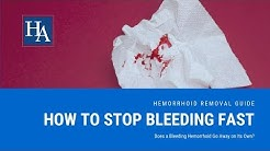 How to Stop Hemorrhoid Bleeding Fast   Does a Bleeding Hemorrhoid Go Away on Its Own?