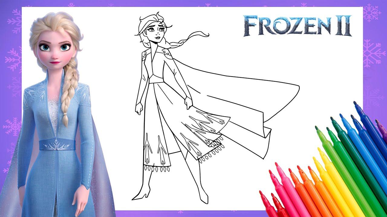 Frozen Elsa Coloring Pages   How to Color Elsa in Frozen