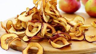 Яблоки сушеные в духовке на зиму — видео рецепт