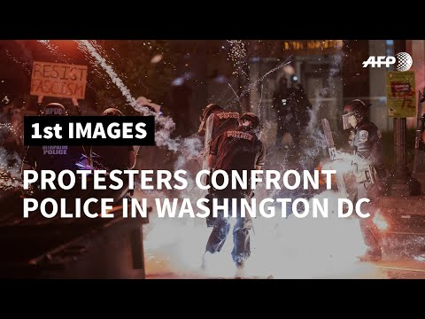 Washington DC: Protesters Confront Police During George Floyd Protest | AFP