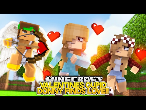 LITTLE DONNY IS CUPID FOR VALENTINES LOVE!! - Little Donny Minecraft Roleplay Hunger Games!!