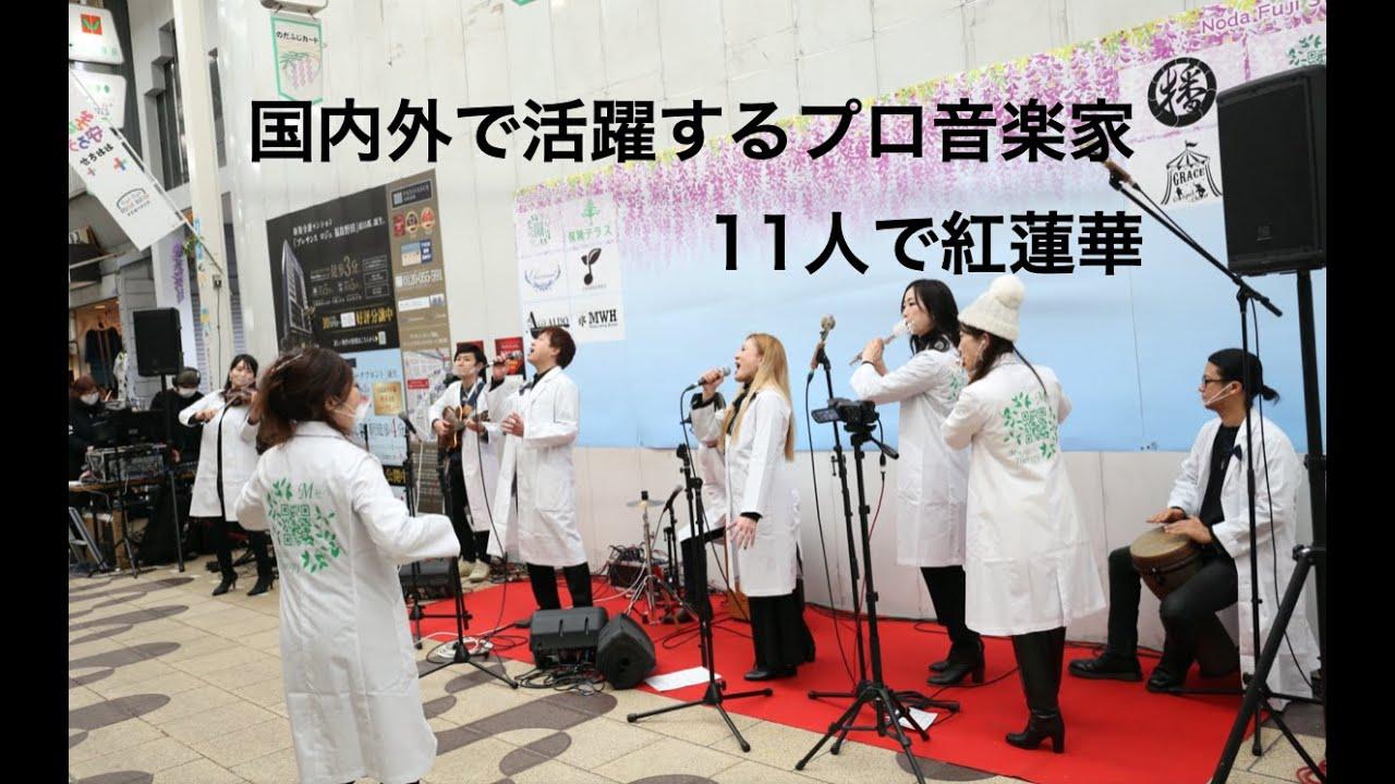 プロ音楽家11人で紅蓮華を演奏(動画)