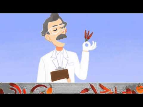 Animated Google Doodle Online Video Game - Wilbur Scoville's Birthday