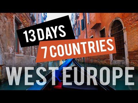 WESTERN EUROPE Travel Tour Itinerary [Italy-Austria-Switzerland-Germany-Netherlands-Belgium-France]