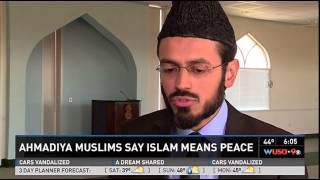 WUSA9: Ahmadiyya Muslims say Islam means Peace. Imam Rizwan Chantilly Mosque