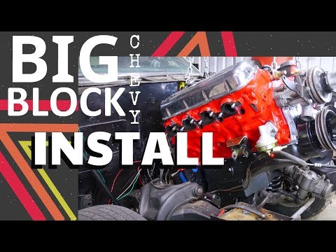 Small Block Chevy Removal   Installing a Chevy Big Block