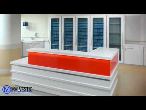 PARMA - emergency ward - Hospital Furniture, counters, medical storage