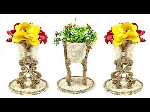 DIY Paper Cup Vase   Jute Crafts   Crafts Junction
