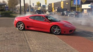 Ferrari 360 Modena Doing CRAZY Donuts!