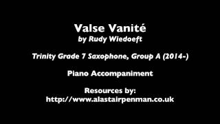 Valse Vanite by Rudy Wiedoeft. Piano accompaniment