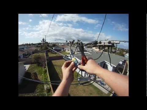 Disconnecting Cable - A day on the job with with my GoPro