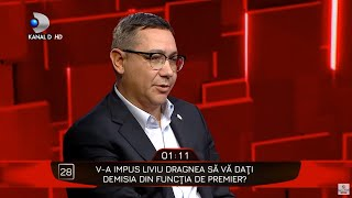40 de intrebari cu Denise Rifai - Victor Ponta, adevarul despre demisia din fucntia de Premier!
