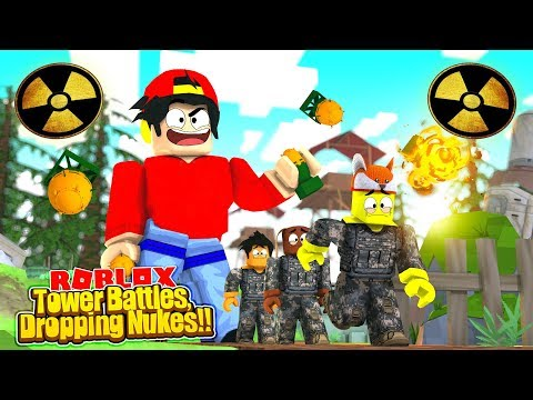 ROBLOX - TOWER BATTLES - DROPPING NUKES!!!