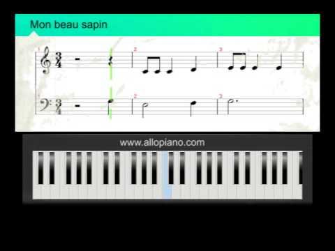 ALLOPIANO - Cours de piano Chants de noël - Mon beau sapin