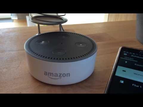 Amazon Echo Dot Smart Home Steuern Mit Philips Hue Lampen Youtube
