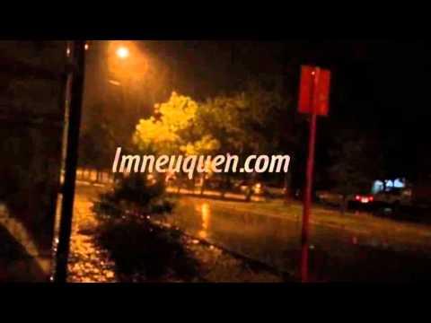Varios barrios resultaron afectados por la lluvia