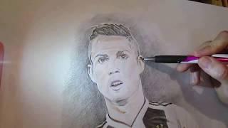Cristiano Ronaldo Drawing -  Juventus CR7 - رسم كريستيانو رونالدو
