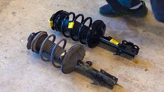 Replacing struts on a Toyota