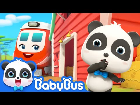 Little Train Can't Find Kiki | Baby Panda Pretends as Scarecrow | Super Rescue Team | BabyBus