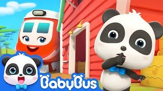 Little Train Can't Find Kiki | Super Rescue Team | Nursery Rhymes | Kids Songs | BabyBus