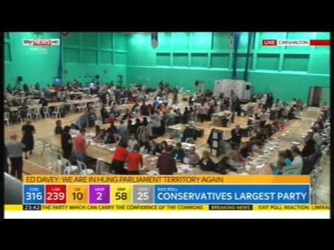 Ed Davey (Lib Dems) on exit Polls, 7th May 2015