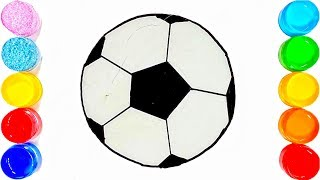 How to Draw a Football | Soccer ball , football coloring pages Learn colors for kids|| TOO COLOUR